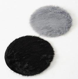 Sitzkissen grau und schwarz