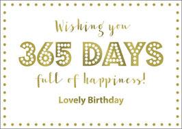 Postkarte 365days