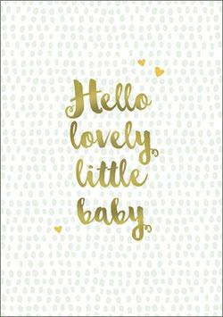 Umschlagkarte Hello lovely little baby