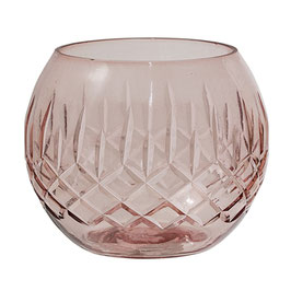 Votive Rose Glass Bloomingville
