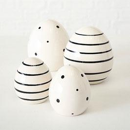 Osterei schwarz/weiß