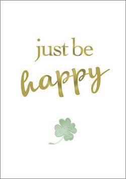 Postkarte  Just be happy