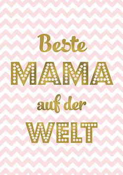 Postkarte Beste Mama auf der Welt