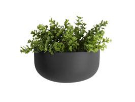Wall Plant Pot schwarz breit