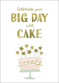 Umschlagkarte Big day with Cake