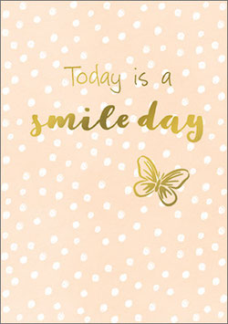 Postkarte  Today it's a smile day