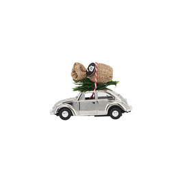 Mini Xmas Car silber