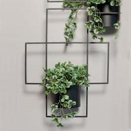 Pflanztopf zum Befestigen an die Wand  schwarz