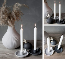 Kerzenständer Llunggarden grau