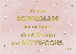 Postkarte  Schokolade