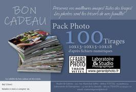 """Bon Cadeau """"PACK 100""""tirages"""