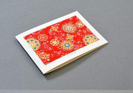 Grußkarte Chiyogami mit Umschlag, DIN A6
