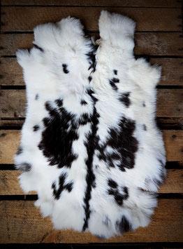 Konijnenvacht bont (zwart)