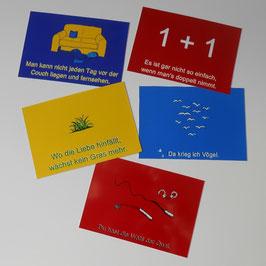 """Postkarte """"Sprichwörter Verkehrt"""""""