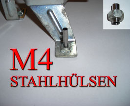STAHLHÜLSEN M4 (100Stück)