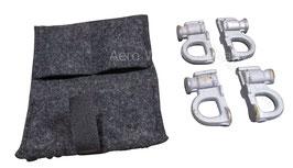 Verzurrösen 4 Stück mit Tasche Kombi Saab 9.5 YS3E