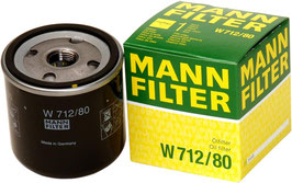 Original MANN-FILTER W 712/80 - Schmierölwechselfilter Saab 9.3 YS3D