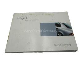 Betriebsanleitung Sport-Limousine M 2003 Saab 9.3 YS3F