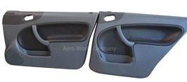 Seitenverkleidung Leder Grau/Schwarz Limousine Saab 9.3 YS3D