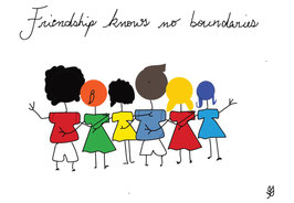 Friendship knows no boundaries Postkarte