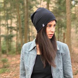 BEANIE BOX / Jersey Mütze schwarz