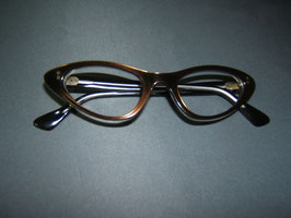 Cat Eye Brille Bronze/Crystal