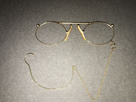 Victorian Antique Pince-nez mit Ohrenkette