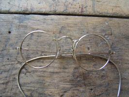 20er -30er Jahre runde Metallbrille fein ziselliert