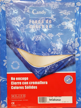 Funda de colchón Candy azul. No elastica.