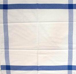 Paño cocina Percal Rayas azul 100% algodón.