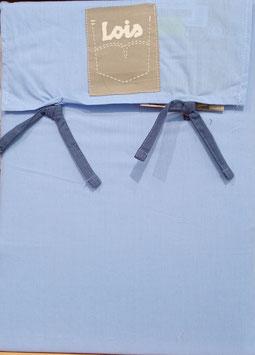 Sabanas Lois 150 cm. alta calidad 100% algodón . Azul celeste