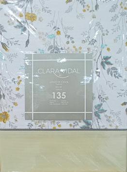 Sabanas Clara Vidal 135 cm. color Beig
