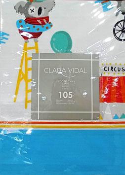 Sabanas Clara Vidal 90 cm. color azul - CIRCO