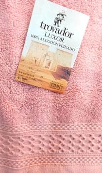 Toallas Trovador Luxor 100% algodón Peinado 600grs/m. Color 07 rosa. 3 medidas disponibles.