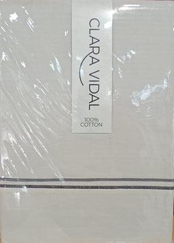 Sabanas 100% algodón Clara Vidal 105 cm. color Beig Grisaceo