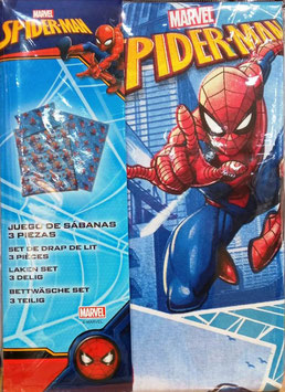 Sabanas Marvel Spiderman 90 cm. color azul