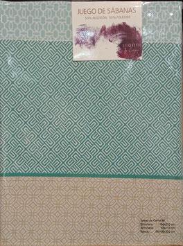 Sabanas Etiquette 90 cm. verde