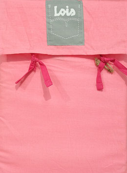 Sabanas Lois 150 cm. alta calidad 100% algodón . Fresa chicle