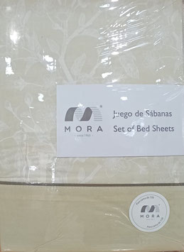 Sabanas Mora 150 cm.  Alta calidad