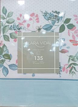 Sabanas Clara Vidal 135 cm. color Azul