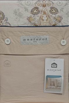 Sabanas Manterol 180 cm.  Color Beig claro 100% algodon