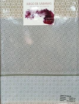 Sabanas Etiquette 90 cm. gris/beig