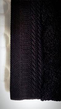 Toallas 100% algodón Peinado 600grs/m. Color Negro. 4 medidas disponibles.