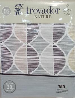 Sabanas Trovador 150 cm. alta calidad 100% algodón . Nairobi