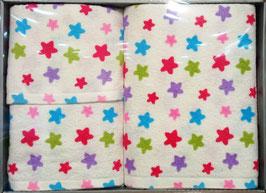 Juego de toallas Arco Baleno estampada Estrellas