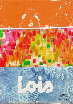 Sabanas Lois 90 cm. colores naranja