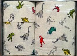 Juego de toallas Arco Baleno estampada Dinosaurios