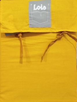 Sabanas Lois 150 cm. alta calidad 100% algodón . Mostaza