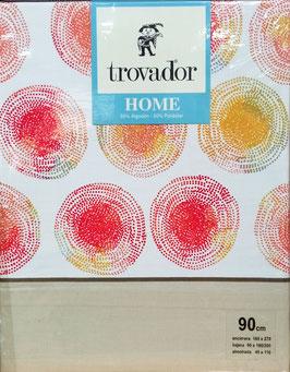Sabanas Trovador circulos 90 cm. beig claro
