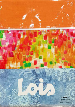 Juego de sabanas Lois 150 cm. color naranja